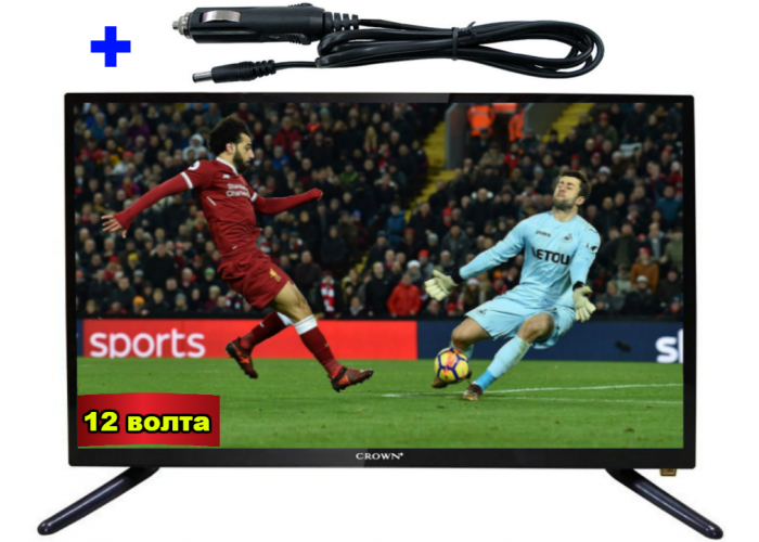 22 ИНЧА TV LED LCD CROWN 22133 12-220V + 12V АДАПТЕР