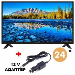Телевизор Crown 24J110HD, ЦИФРОВ ТУНЕР, 12 ВОЛТА, 24 ИНЧА