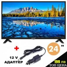 Телевизор Crown 24J110HD, ЦИФРОВ ТУНЕР, 12 ВОЛТА, 24ИНЧА