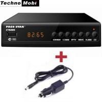 Цифров Комбиниран приемник PACO STAR CT8265 HD HEVC DVB-C, DVB-T/T2, IPTV, 12V АДАПТЕР