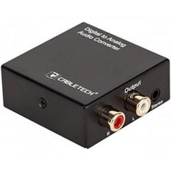 Digital Analog AUDIO конвертор TOSLINK Cabletech ZLA0857-2 - от оптичен аудио кабел към стандартен чинч L/R