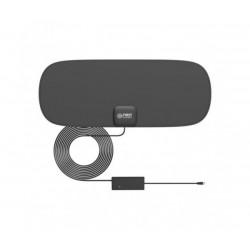 Тънка вътрешна телевизионна антена с усилвател и USB First Austria FA-3101, 16 x 40 cm