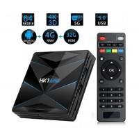 Мултимедиен плеър за гледане на безплатна ТВ и филми TV Box HK1, 4K, Android 9.0, Penta-Core mali-450, SDRAM 2GB, FLASH 16B, WiFi