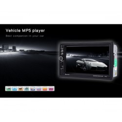 Универсален Двоен Дин с Радио, MP3, MP4, USB, SD карта, Bluetooth 7021A BT
