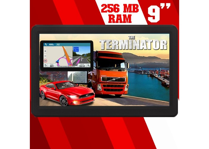 GPS НАВИГАЦИЯ DINIWID N9 TERMINATOR, 9 ИНЧА, 256 MB RAM