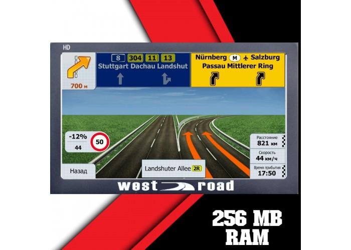 GPS НАВИГАЦИЯ WEST ROAD WR-X900EU FM HD 800 MHZ 256MB RAM 8GB