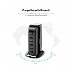 Мултифункционално USB зарядно устройство Uslion Charging Station, 5 USB порта