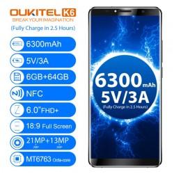 OUKITEL K6, 4G-LTE МОБИЛЕН ТЕЛЕФОН С TV ТУНЕР