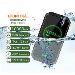 OUKITEL K10000 MAX 4G-LTE МОБИЛЕН ТЕЛЕФОН С НАВИГАЦИЯ ЕВРОПА