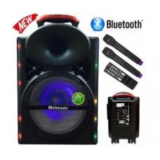 """Мощна 12"""" Караоке колона Meirende A12-33, 2 безжични микрофона, Bluetooth, SD, USB, Радио"""