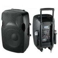 """Мощна тонколона Alien 15"""" с усилвател, вграден акумулатор, Bluetooth, МП3 плейър, безжични микрофони"""