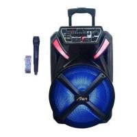 12 инча Караоке Тонколона Alien AN-1231, Един безжичен Микрофон, акумулаторна батерия, Bluetooth, FM радио, USB, micro SD