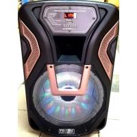15 инчова тонколона FEYIPU K8-15 с вграден акумулатор, Bluetooth, МП3 плейър, безжични микрофони 2 бр. за караоке