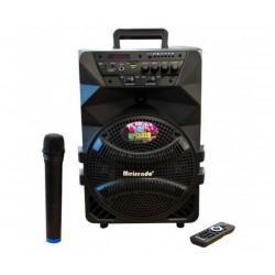 """8"""" Тонколона с вграден акумулатор, MP3 плейър, SD карта и флашка, Bluetooth, безжичен микрофон за караоке, Meirende MR-218A"""