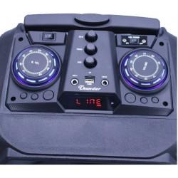Караоке Тонколона Thunder HS-B1201BTW, 12 инча, два безжични Микрофона, акумулаторна батерия, Bluetooth, FM радио, USB, SD card player, 200W