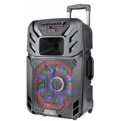 """12"""" Тонколона за Караоке Zephyr Z-9999-A12 с вграден акумулатор, Bluetooth, МП3 плейър, 2 бр. безжични микрофона"""