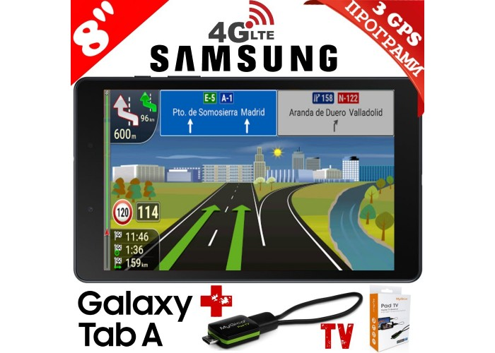 ТАБЛЕТ SAMSUNG SM-T295 GALAXY Tab A 8inch 32GB LTE Black , НАВИГАЦИЯ ЕВРОПА, TV ТУНЕР